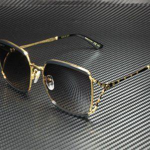 Gucci Black Gold 59mm Sunglasses